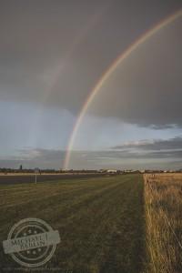 Regenbogen am Tempelhofer Feld