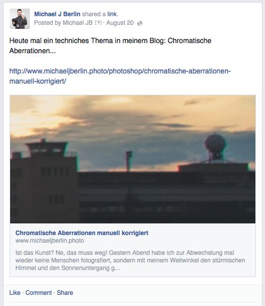 Als Link gepostet mit Vorschaubild - so mag Facebook es in Zukunft lieber