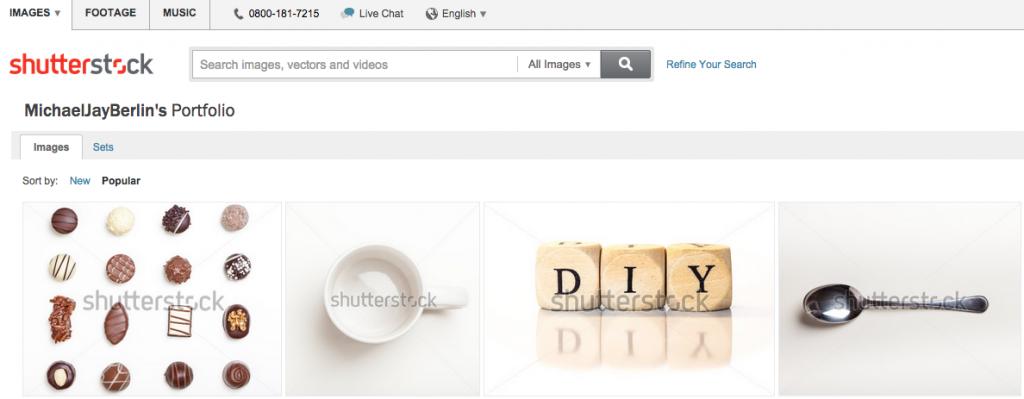 Mein Shutterstock Portfolio