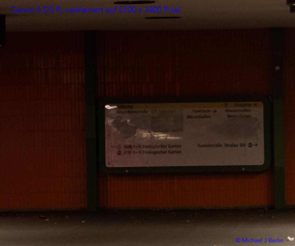 Nutzbare Bildgrösse 17 Megapixel bei ISO 2000