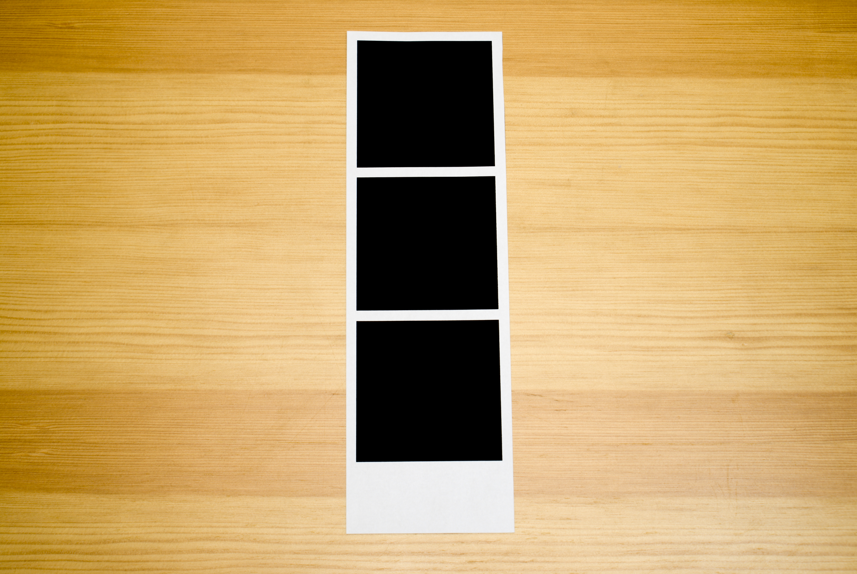 Blank strip of instant photos, can be used in design, add the images you'd like to see.
