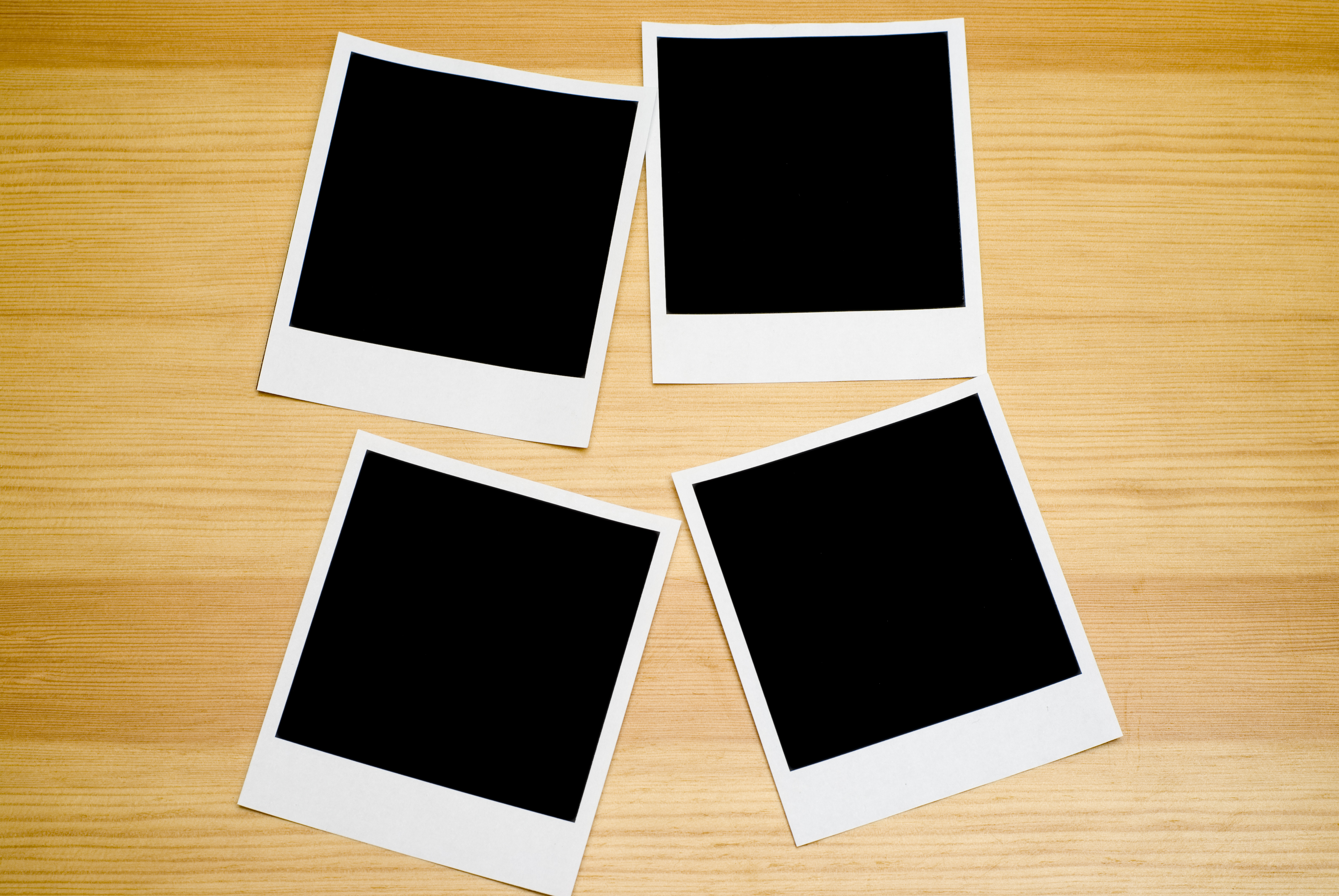 Four empty pictures to be used easily in designs.